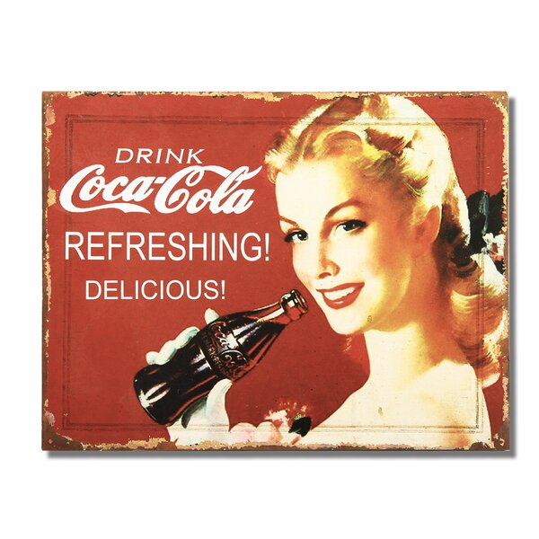 Drink Coca - Cola  Wall Décor by Adeco Trading