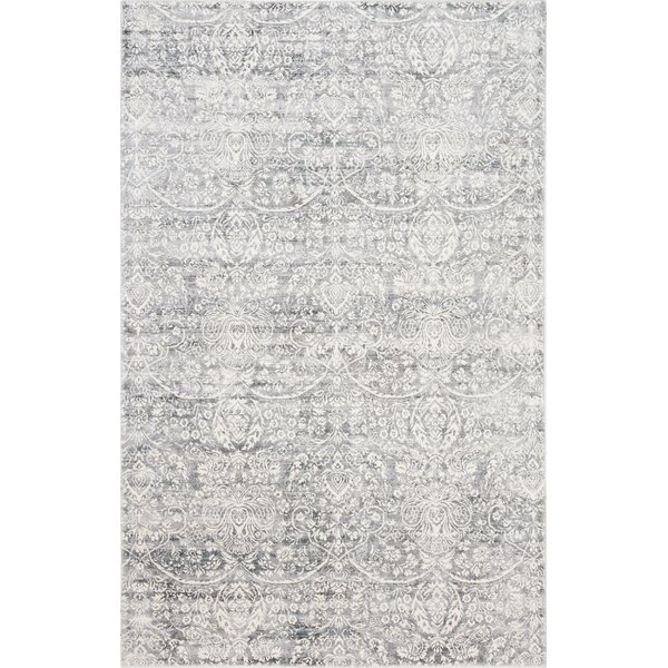Ramage Distressed Hand-Woven Gray/Ivory Area Rug by Bungalow Rose