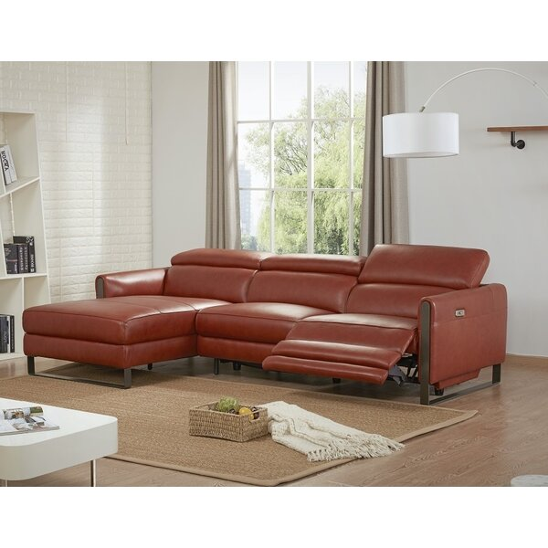 Kress Premium Leather Sectional by Brayden Studio