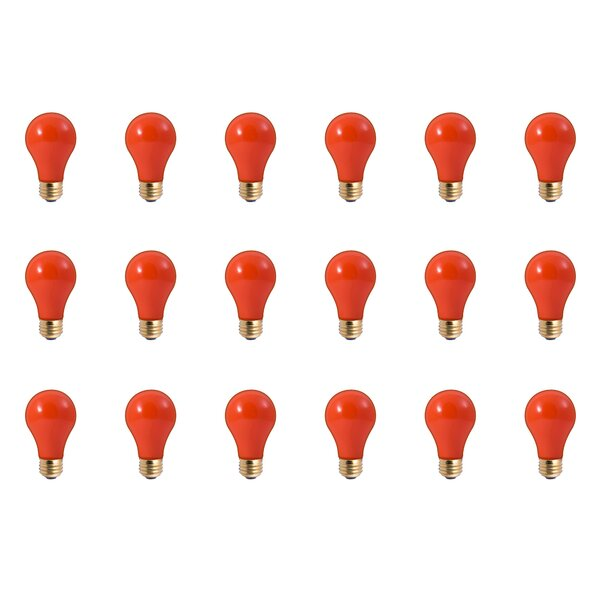60W E26 Dimmable Incandescent Light Bulb Ceramic Orange (Set of 18) by Bulbrite Industries