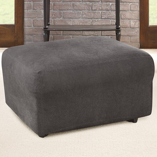 Ultimate Stretch Box Cushion Ottoman Slipcover By Sure Fit