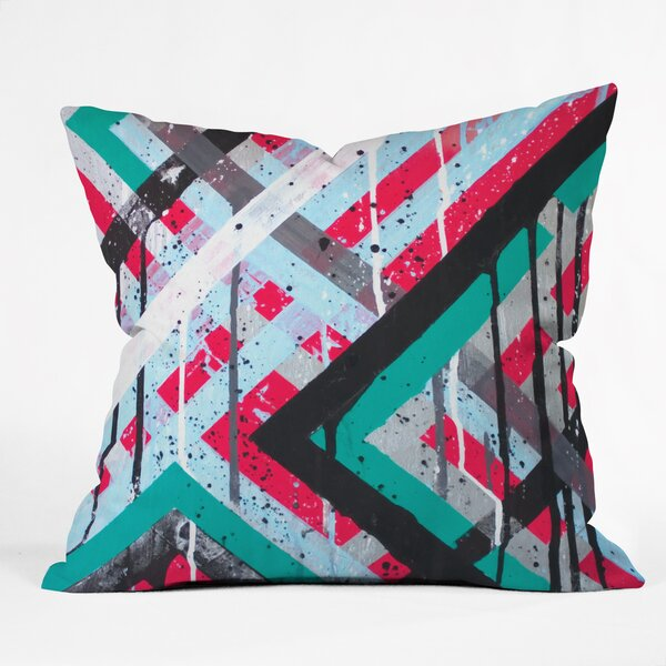 Kent Youngstrom Holiday Stripes Throw Pillow by Deny Designs