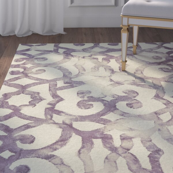 Alioth Violet/White Rug by Willa Arlo Interiors