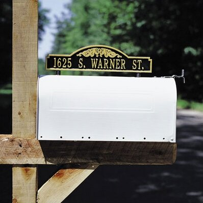Two Sided Mailbox Address Scroll Marker by Whitehall Products