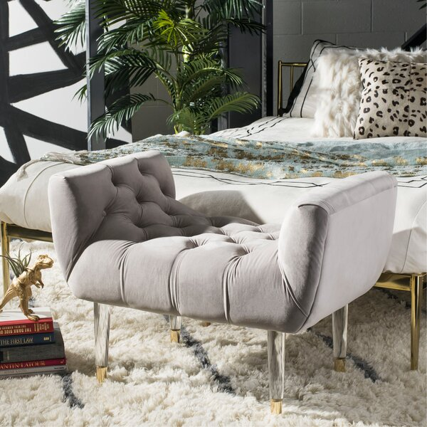 Dunnottar Tufted Upholstered Bench by Modern Rustic Interiors