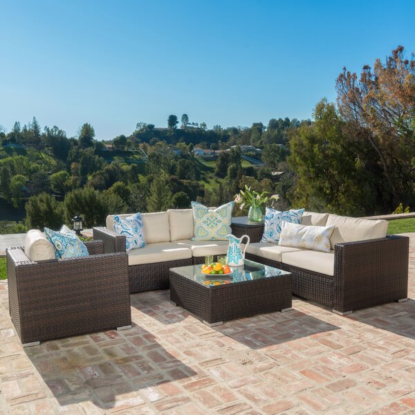Benbow 7 Piece Sectional Set with Cushions by Mercury Row