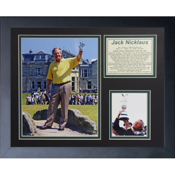 Jack Nicklaus Framed Memorabilia by Legends Never Die