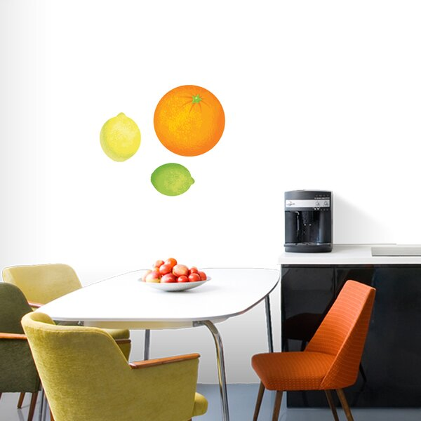 Orange, Lemon, Lime Printed Wall Decal by Sweetums Wall Decals