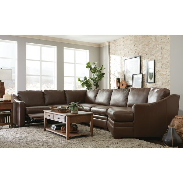 Dillard Cuddler Leather Right Hand Facing Sectional By Westland And Birch