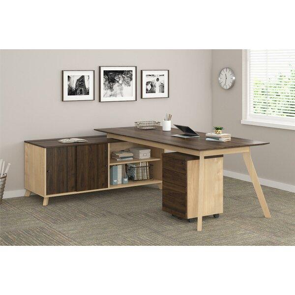Barbosa Modern Executive 2 Piece L-Shape Desk Office Suite by Ivy Bronx