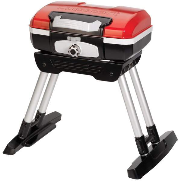 Petit Gourmet Portable Propane Gas Outdoor Grill with Versa Stand by Cuisinart