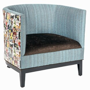 Magazine Mixed Media Barrel Chair by Loni M Designs