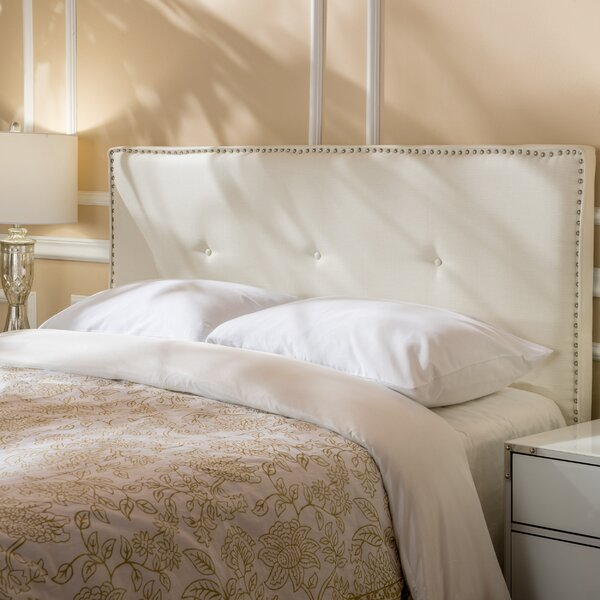 Woodhouse Full Upholstered Panel Headboard by House of Hampton
