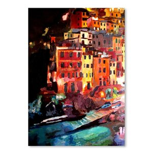 Magic Cinque Terre Night in Riomaggiore Painting by East Urban Home