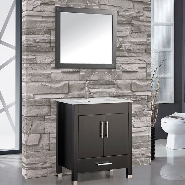 Prahl 36 Single Sink Bathroom Vanity Set with Mirror by Orren Ellis