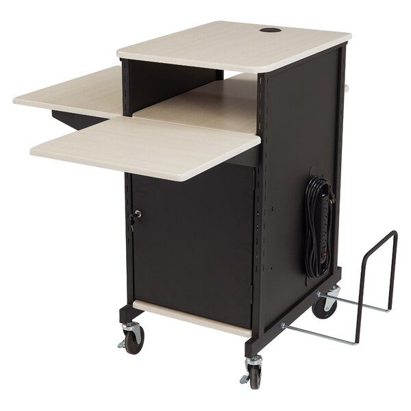Jumbo Plus Presentation AV Cart Full Podium by Oklahoma Sound