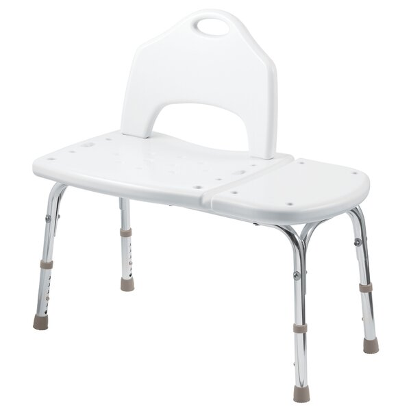 Adjustable Transfer Bench in Glacier by Home Care by Moen