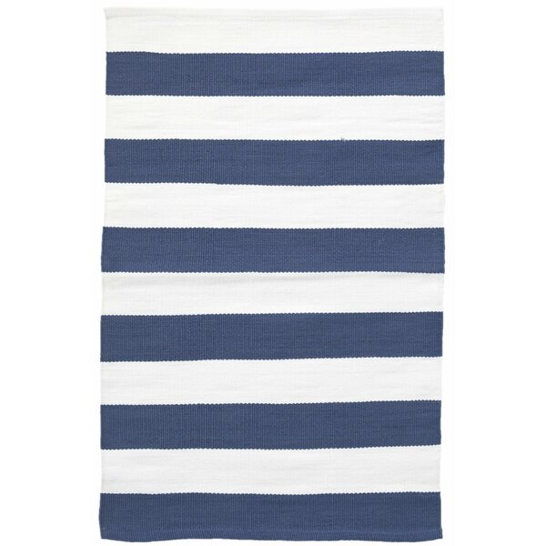 Catamaran Striped Blue/White Indoor / Outdoor Area Rug