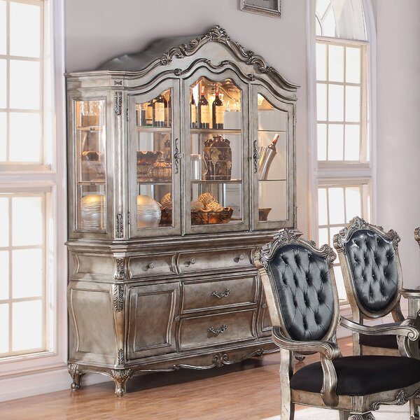 Wensley Lighted China Cabinet by Astoria Grand Astoria Grand