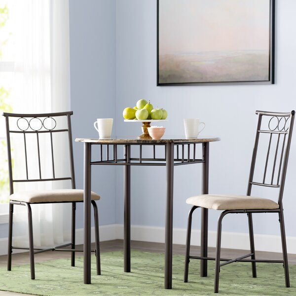 Geneseo 3 Piece Dining Set by Andover Mills