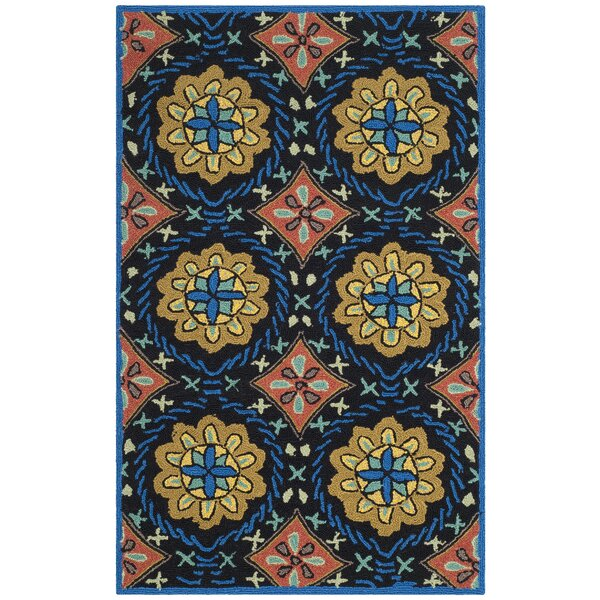 George Green/Blue Outdoor Area Rug by World Menagerie