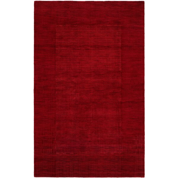 Bera Hand-Woven Red Area Rug by Meridian Rugmakers