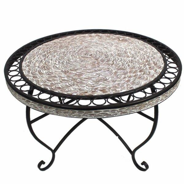 Merkel Round Metal Coffee Table by August Grove