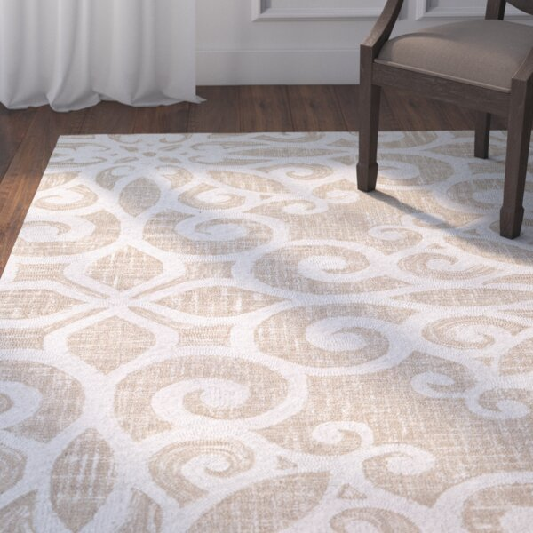 Lissette Hand-Woven Cream/Taupe Area Rug by Darby Home Co
