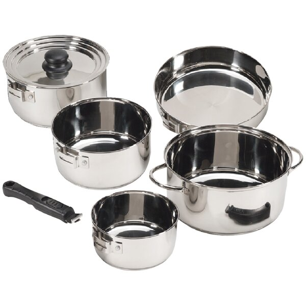 7 Piece Stainless Steel Cookware Set by Stansport