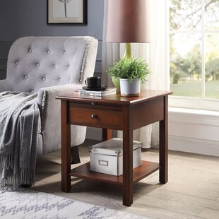 Strunk 1 Drawer End Table with Storage by Alcott Hill