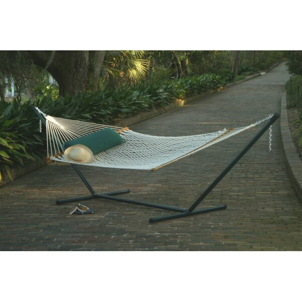 Grassingt Polyester Rope Double Tree Hammock with Stand by Freeport Park