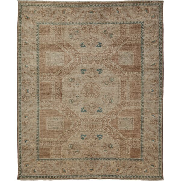 One-of-a-Kind Oushak Hand-Knotted Brown Area Rug by Solo Rugs