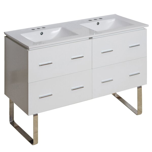 Hinerman 48 Double Bathroom Vanity Set by Royal Purple Bath Kitchen