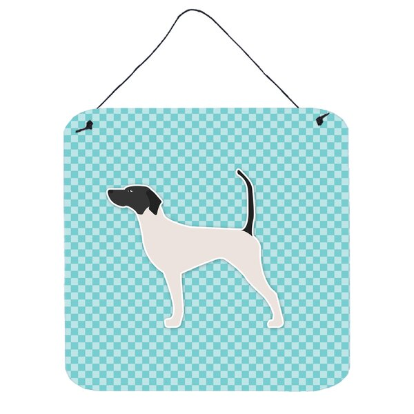 English Pointer Checkerboard Wall Décor by East Urban Home