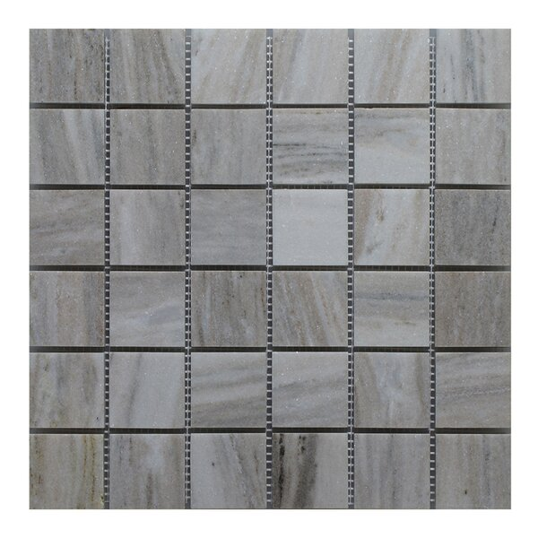 Palissandro 2 x 2 Marble Mosaic Tile in Gray by Seven Seas