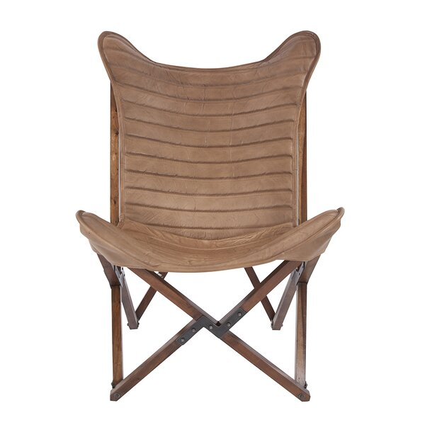 Vannatta Leather Sling Lounge Chair by Union Rustic
