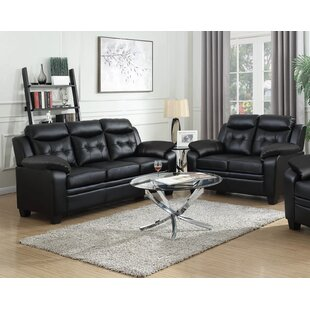 Glebs 2 Piece Faux Leather Living Room Set by Ebern Designs