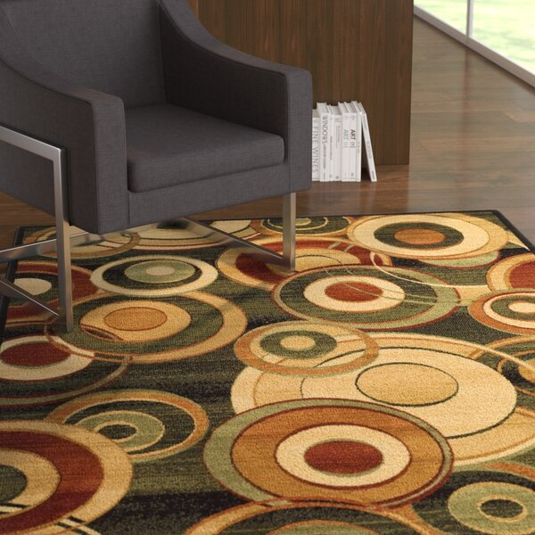 Chani Black Circle Area Rug by Ebern Designs