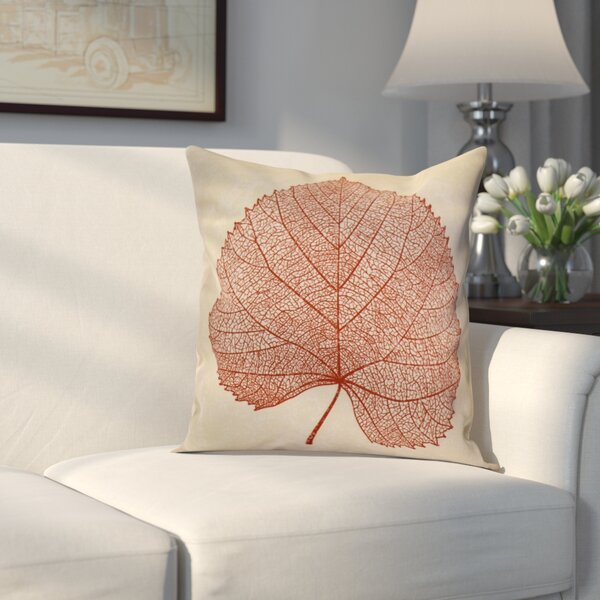 Miller Leaf Study Outdoor Throw Pillow by Alcott Hill