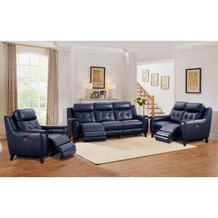 Marylyn 3 Piece Leather Reclining Living Room Set by Latitude Run