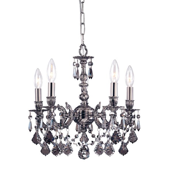 Gramercy 4-Light Candle Style Chandelier by Crystorama