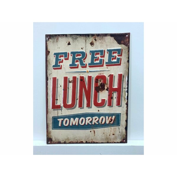 Free Lunch Tomorrow Vintage Metal Wall Décor by Winston Porter