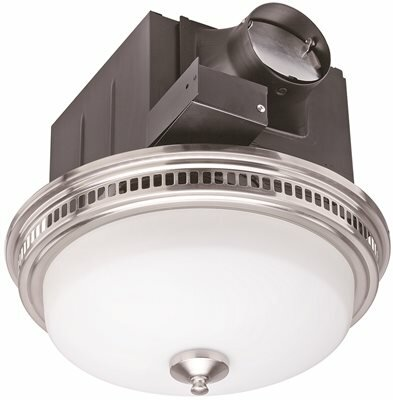 110 CFM Bathroom Fan with Light by Monument
