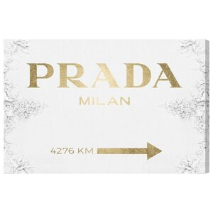 'Milan Sign' Textual Art on Wrapped Canvas in Gold by Willa Arlo Interiors