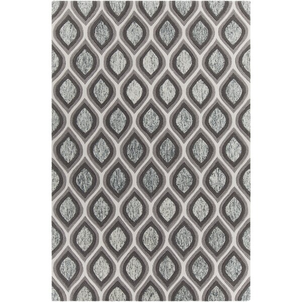 Delong Patterned Contemporary Gray/White Area Rug by Brayden Studio