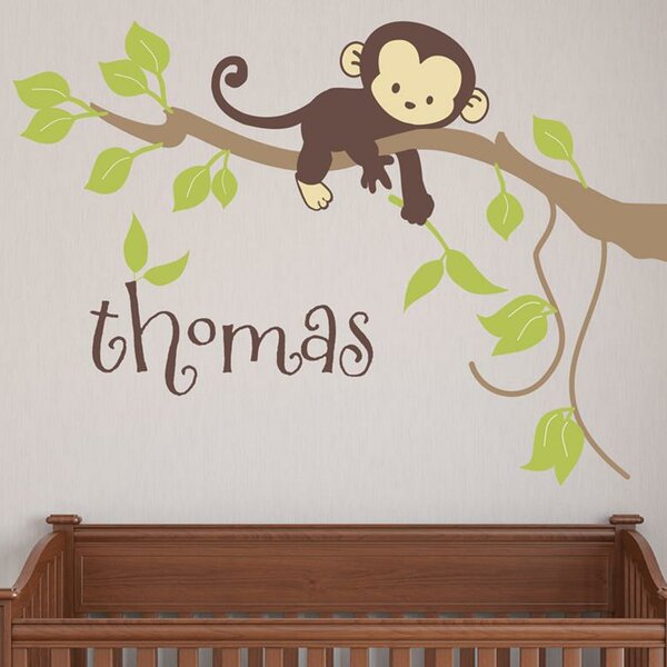Monkey Branch Wall Decal by Alphabet Garden Designs