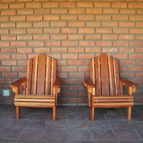 Mora Solid Wood Adirondack Chair by Rosecliff Heights