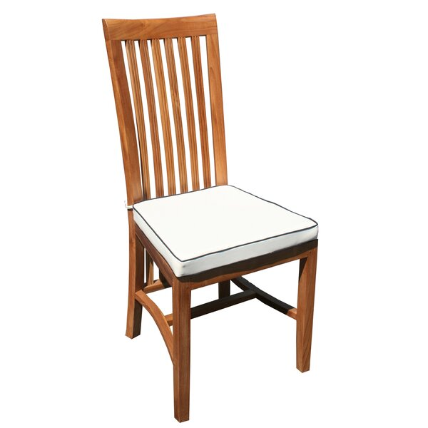 Freeland Teak Patio Dining Chair with Cushion by Darby Home Co