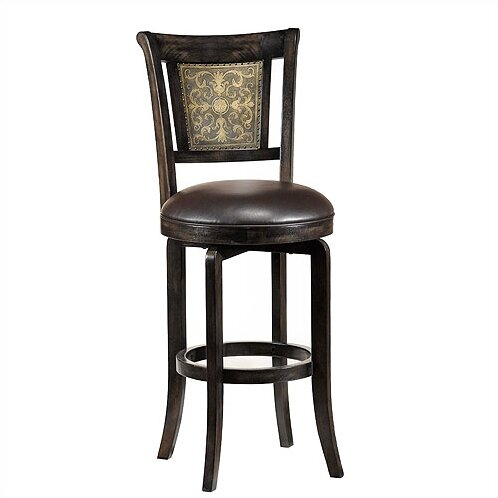 Camille Black 30 Swivel Bar Stool by Hillsdale Furniture