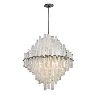 Manhatten 2-Light Geometric Chandelier by Corbett Lighting